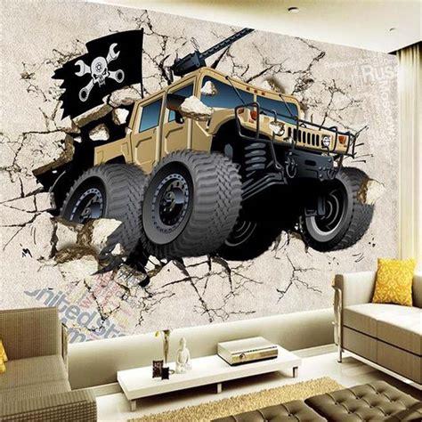 custom wall mural wallpaper  cartoon military vehicles
