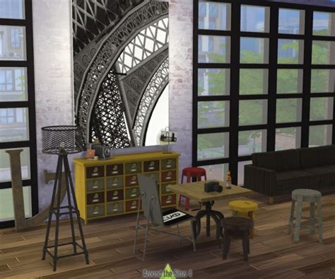 industrial dining room furniture around the sims 4 industrial diningroom sims 4 downloads
