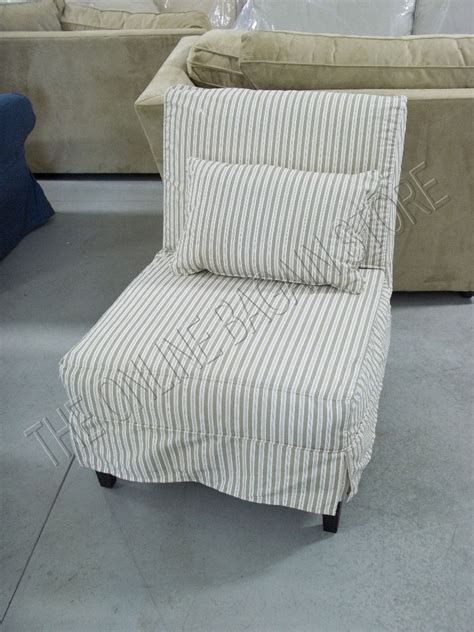 chair slipcovers pottery barn pottery barn brooks armless slipcovered sofa accent chair