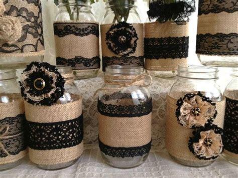 frascos decorados blanco y negro las 25 mejores ideas sobre frascos de encaje en pinterest