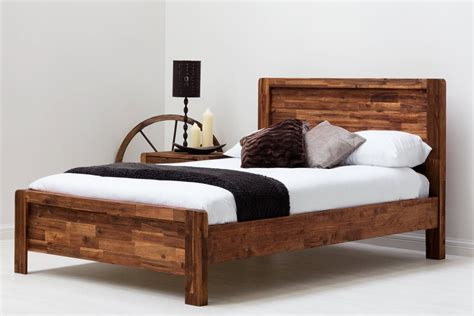 Wooden Framed Beds Chester Acacia Wooden Bed Frame Rustic Java King Size Sleep Design