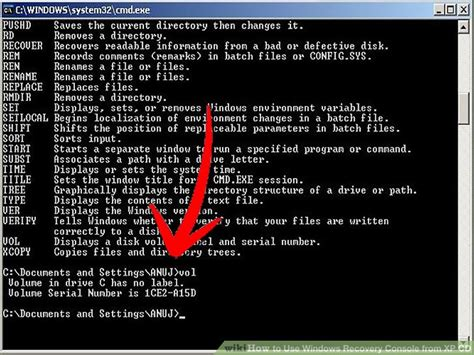 windows xp recovery console how to use windows recovery console from xp cd 14 steps