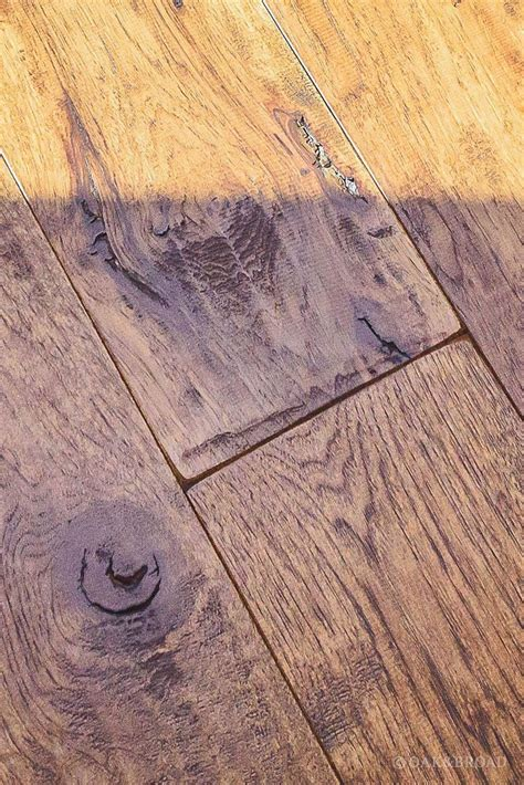 Scraped Wide Plank Wood Floor Custom Scraped Hickory Floor In Cupertino Wide