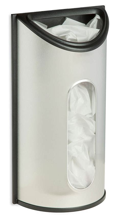 Kitchen Recycle Trash Can by Stainless Steel Grocery Bag Holder In Plastic Bag Recyclers