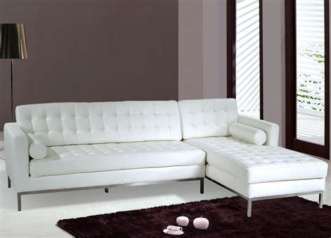 Leather White Sofa Small White Leather Sectional Sofa Plushemisphere