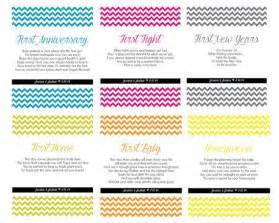 creative bridal shower gift poems wine bottle labels for milestones anniversary