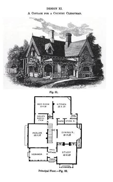 Andrew Jackson Downing Cottage Residences by Architecture Frances Willard House Museum Archives