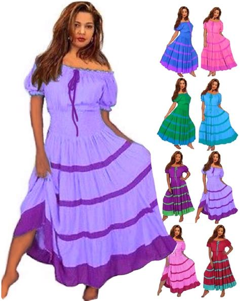 color block mexican peasant wedding dress