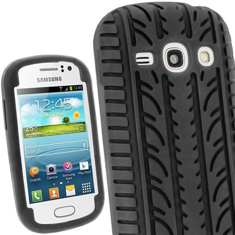 black silicone tyre skin for samsung galaxy fame s6810 android cover shell ebay