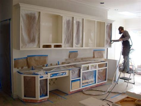 Kitchen Cabinets Repainted by Kitchen Finishing Lacquer Painting Is A Wonderful Option