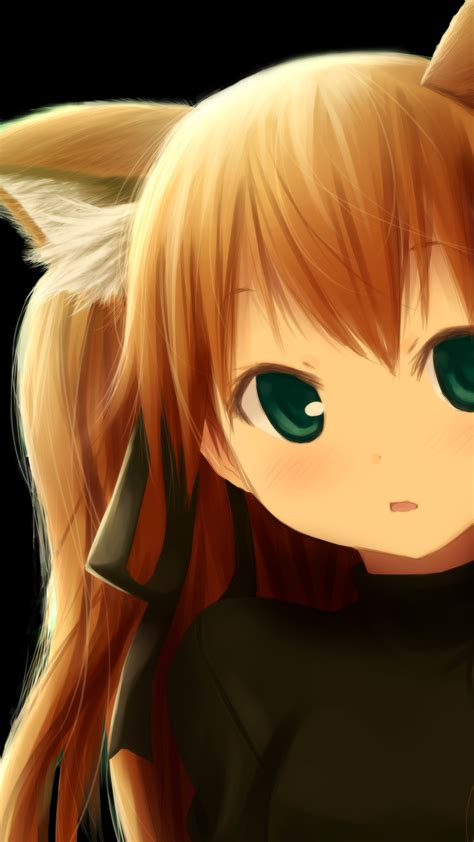 girl cute fox art beautiful pictures anime funny cute anime fox girl kitsunemimi 1440x2560