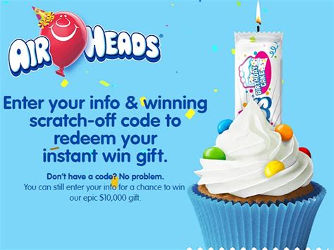 Airheads Sweepstakes - airheads epic birthday promotion win 10 000 cash and millions of prizes instantly