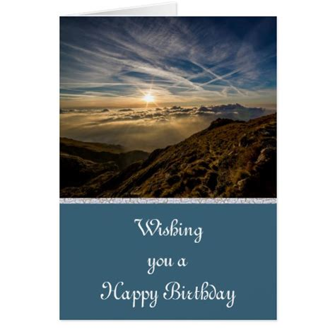 Mountain Gift Card - happy birthday with scenic mountain view greeting card zazzle