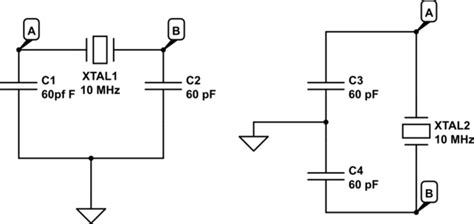 capacitor across oscillator oscillator why are capacitors considered to be in series electrical engineering