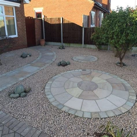 Buff Circle Pattern 2 buff 2 4m circle with sok paving stones direct