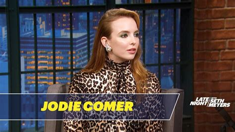 jodie comer seth meyers jodie comer had fun playing a sociopathic assassin on