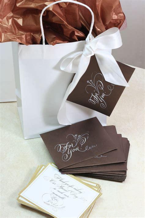 thank you note wedding gift bag wedding gift bags