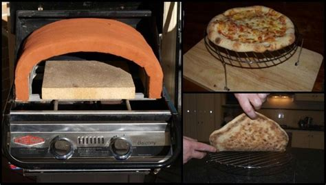 gas bbq heres   add  pizza dome diy