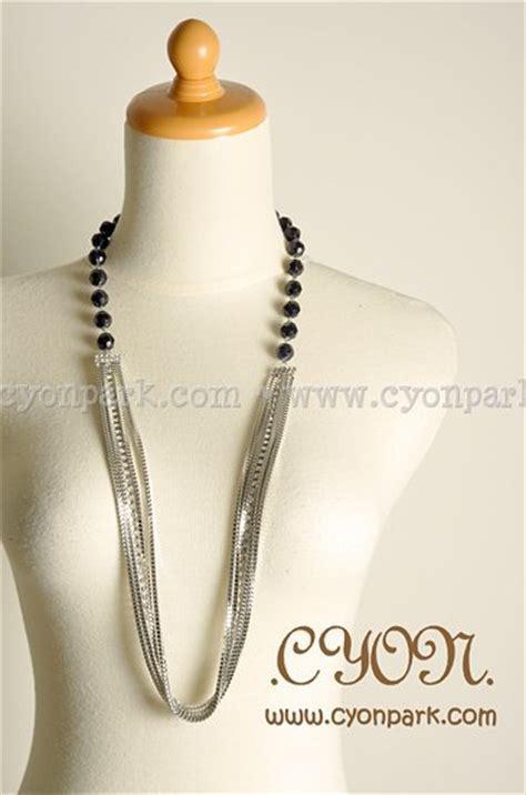 c78243 kalung choker rantai pendek black new accessories collection butik shop tas pesta