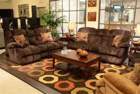 sofa and recliner set catnapper concord lay flat reclining sofa set mahogany