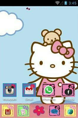 themes android hello kitty hello kitty android theme for go launcher androidlooks com