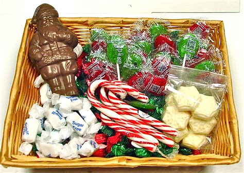 sugar free christmas gift basket contains candy