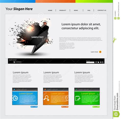 Web Design Template Stock Vector Image Of Environment 24200857 Free Website Design Templates