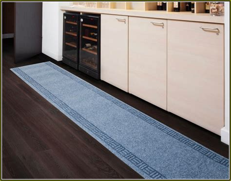kitchen floor runners rugs blue narrow kitchen runner rug all about rugs