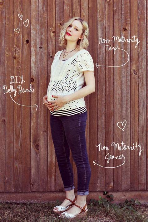 Handmade Maternity Clothes - diy clothes maternity refashion diy make a belly band