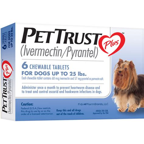 pyrantel for dogs pettrust plus ivermectin pyrantel 6 month supply walmart
