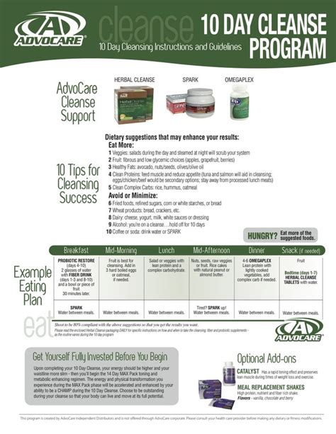 Pdf Dude Diet Clean by Advocare 10 Day Cleanse Pdf Remember That The