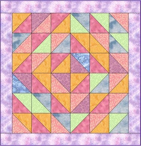 Triangle Quilt Patterns by Easy Triangle Sherbet Quilt By Lynbrown Craftsy