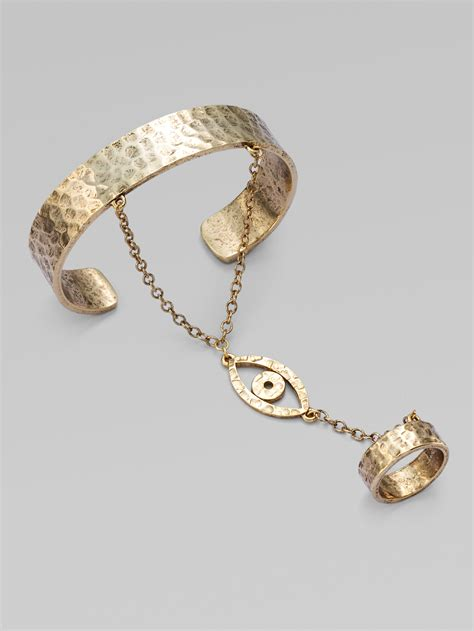 low by erin wasson evil eye bracelet with attached