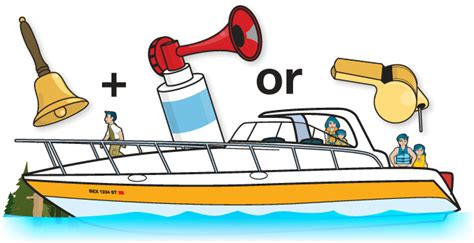 cartoon boat sound required sound signaling equipment boaterexam 174