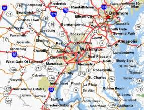 Map Of Northern Virginia by Similiar Map Of Maryland And Virginia Keywords