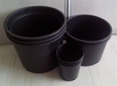 hitam pembibitan plastik pot bunga pot bunga hitam besar