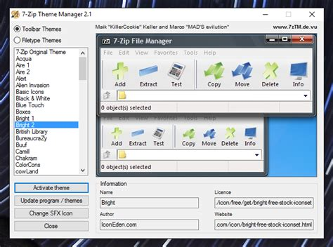 themes zip how to replace 7 zip s ugly icons with better looking ones