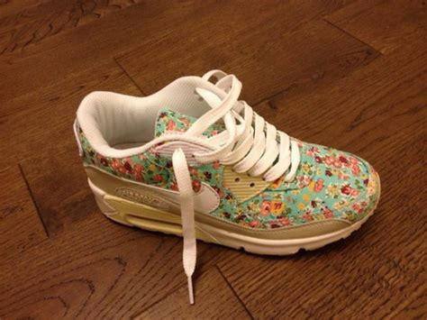 flower pattern trainers shoes trainers nike air max blue floral floral