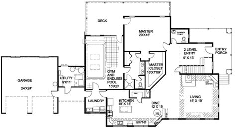 indoor pool house plans energy efficient with indoor pool 16709rh