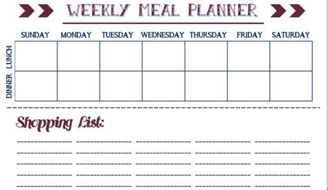 blank meal planner app kids schedule template yes i fed the dog kids weekly