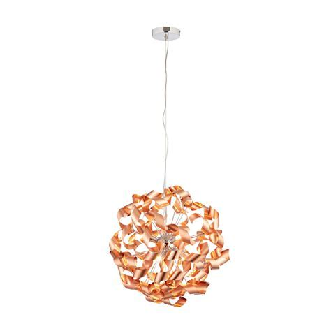 Marcela Modern Copper Brushed 6 Lamp Ceiling Light