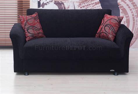 black fabric loveseat utah sofa bed in black fabric by empire w optional loveseat