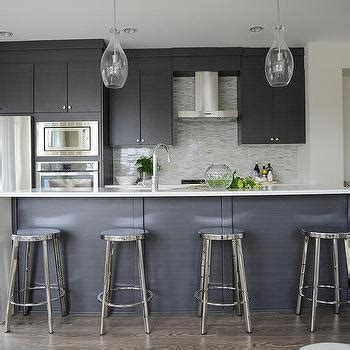 flat front kitchen cabinets dark gray flat front kitchen cabinets with gray mosaic