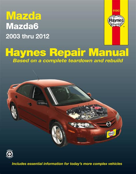 haynes workshop manual mazda mazda6 2002 2012 new service manual repair