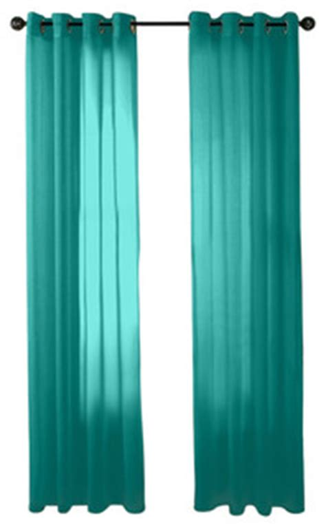 Teal Sheer Curtains Hlc Me 2 Sheer Window Curtain Grommet Panels Aqua Blue Teal Traditional Curtains