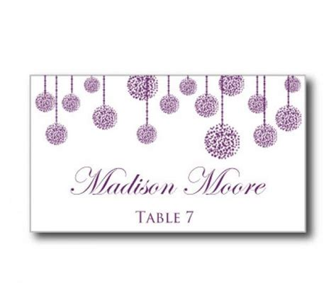 free rustic wedding place card template printable wedding place card template quot purple wedding
