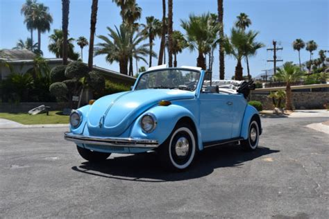 blue volkswagen beetle for sale blue 1971 volkswagen beetle convertible restored