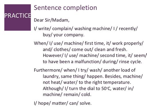 Complaint Letter For Washing Machine Letter Of Complaint