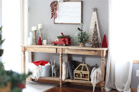 rustic christmas console table world market home decor