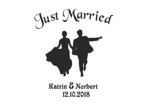 Aufkleber Sticker Hochzeit by Autoaufkleber Hochzeit Tanzendes Brautpaar
